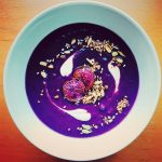 Purple sweet potato soup