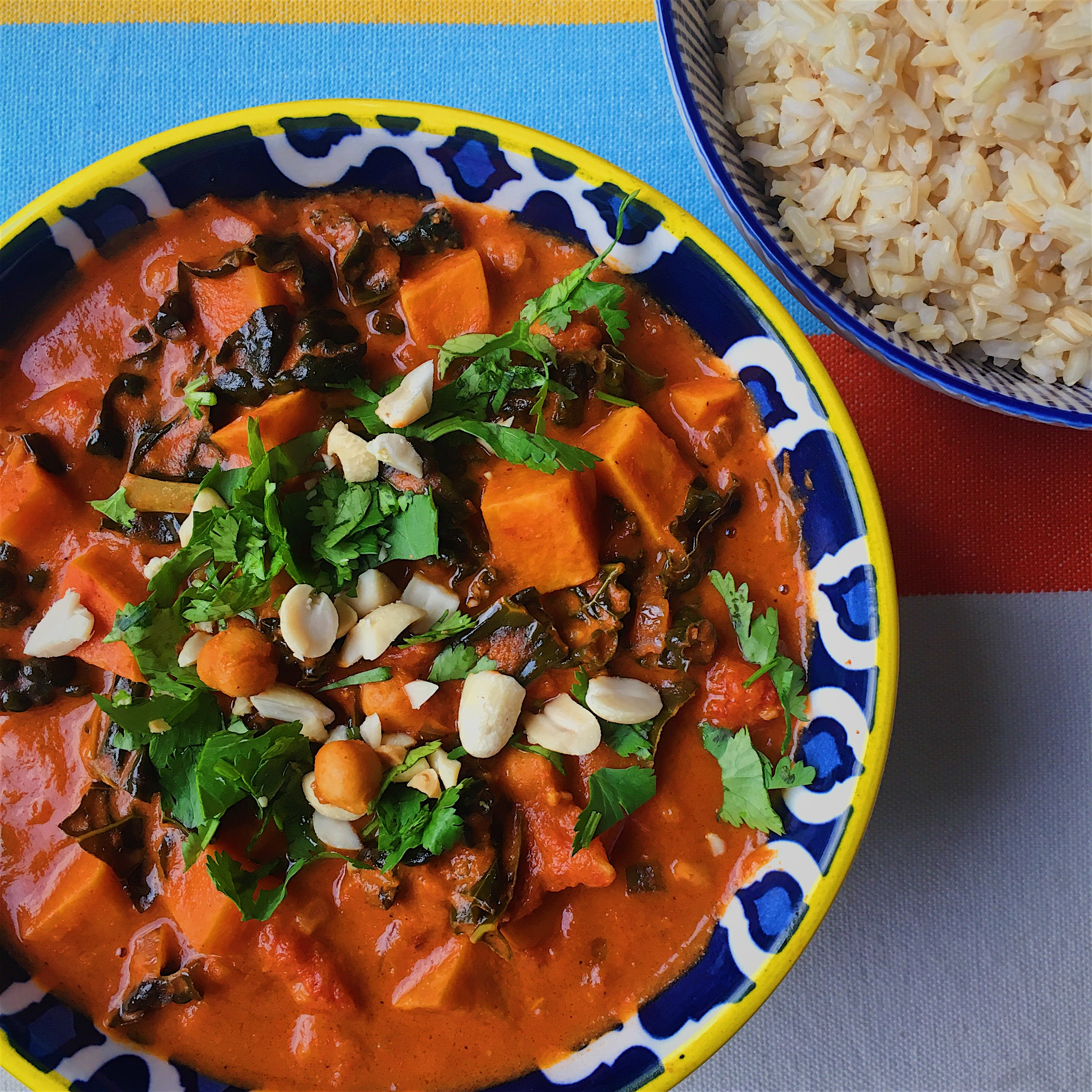 African Peanut Stew with Rice